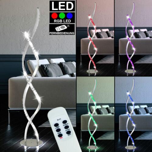 RGB LED Steh Leuchte Arbeits Zimmer Decken Wellen Glas Strahler FERNBEDIENUNG