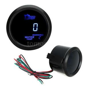 2 52mm Coche Auto LED Digital Medidor de Temperatura Agua Temp Kit de 40-120 ℃ Negro