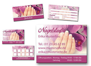 Details Zu Nagelstudio Visitenkarten Bonuskarten Gutscheine Schild Werbung