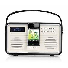 View Quest retrò portatile DAB+ Radio FM con iPhone Dock Station Nero