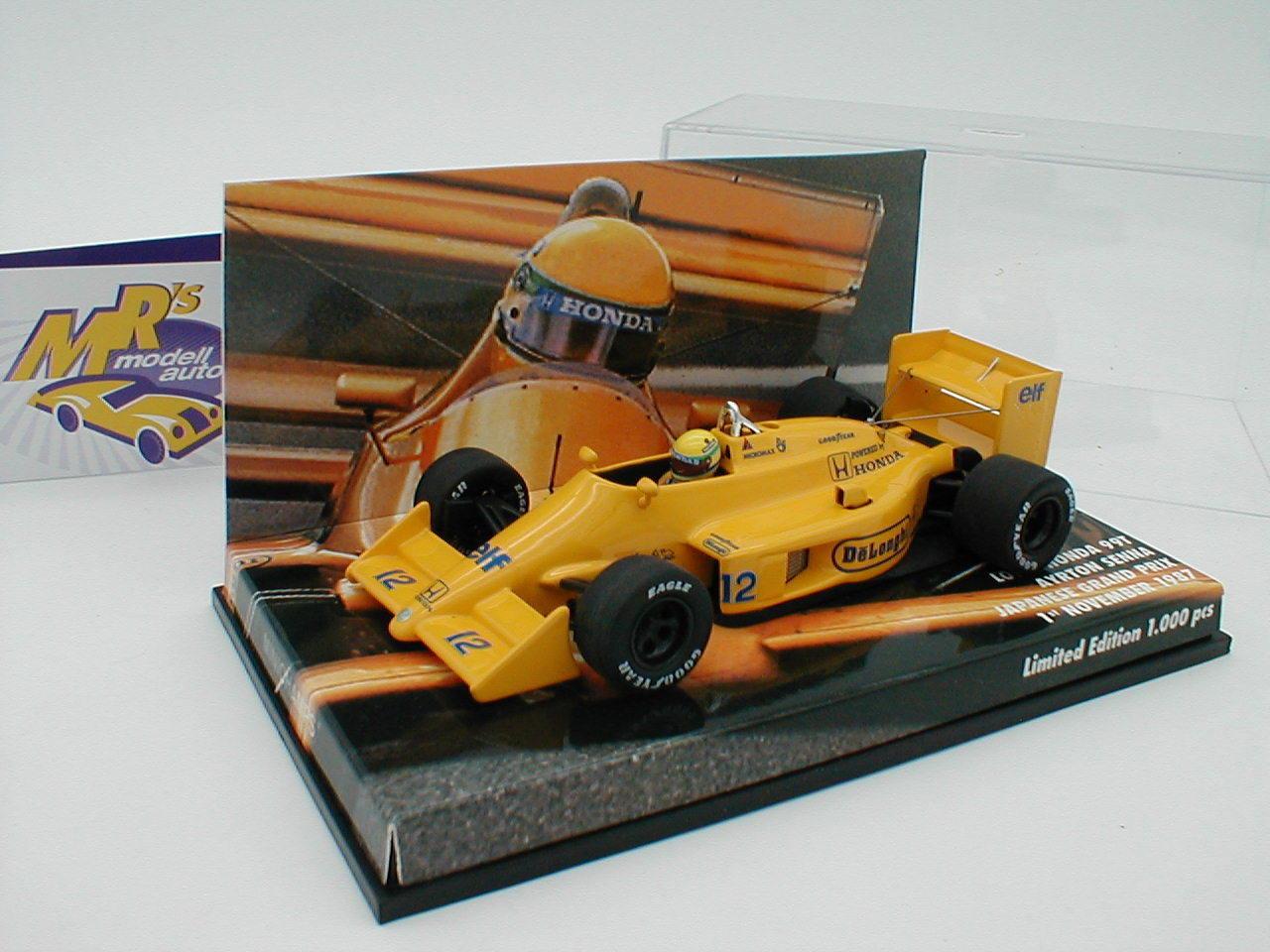 Minichamps 413870112-LOTUS HONDA 99t n. 12  Senna  Giappone GP 1987 1 43 NUOVO
