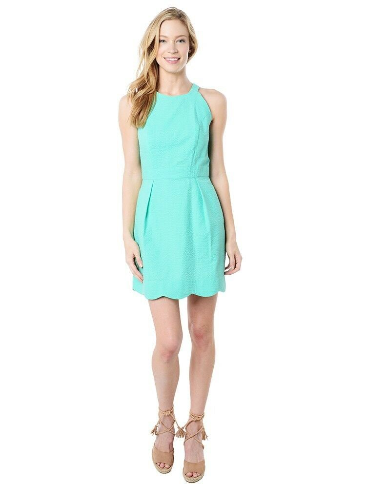 Lauren James Landry Solid Dress In Seafoam Green Size Medium New  125