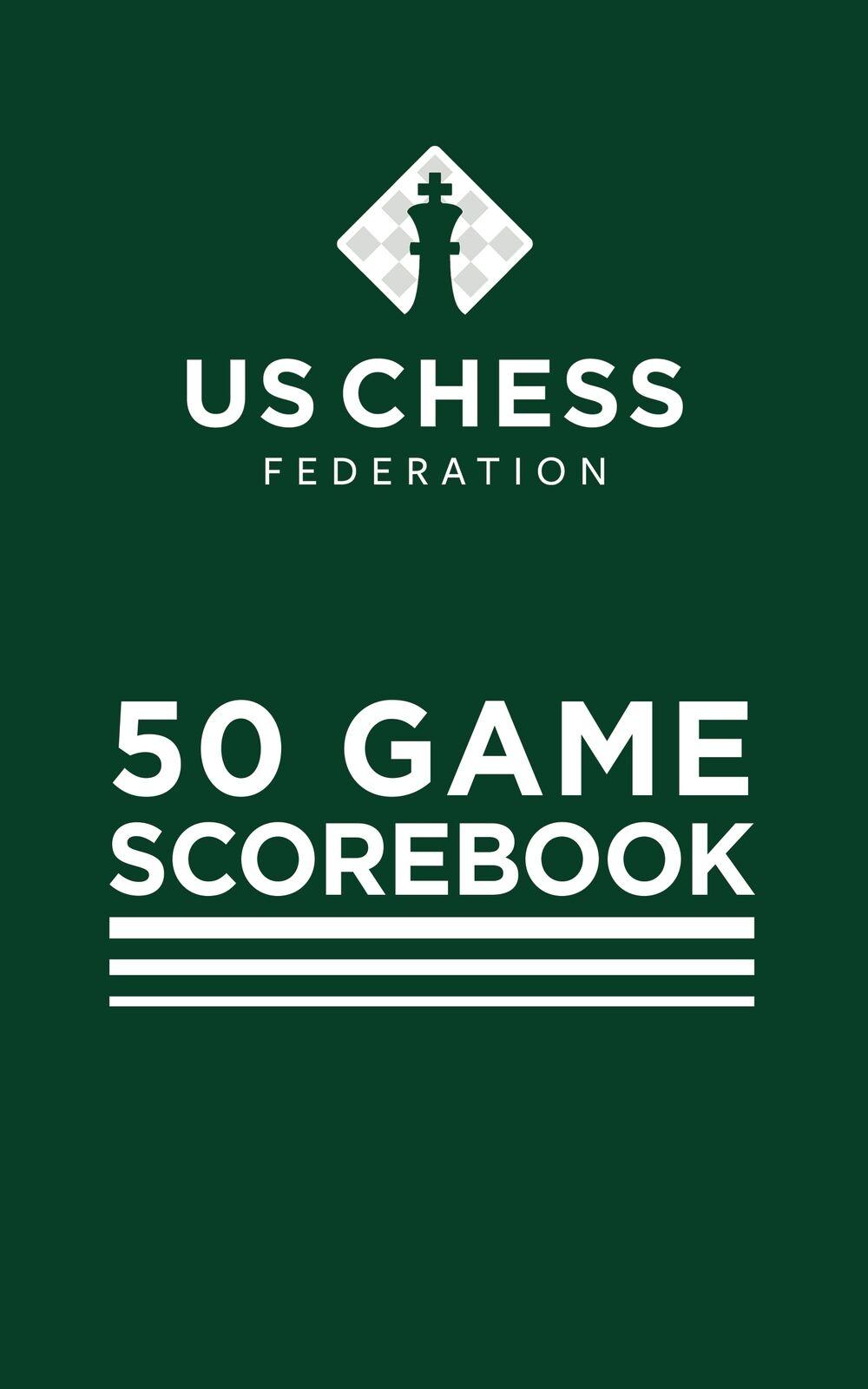 Luxury Softcover Chess Scorebook - Green