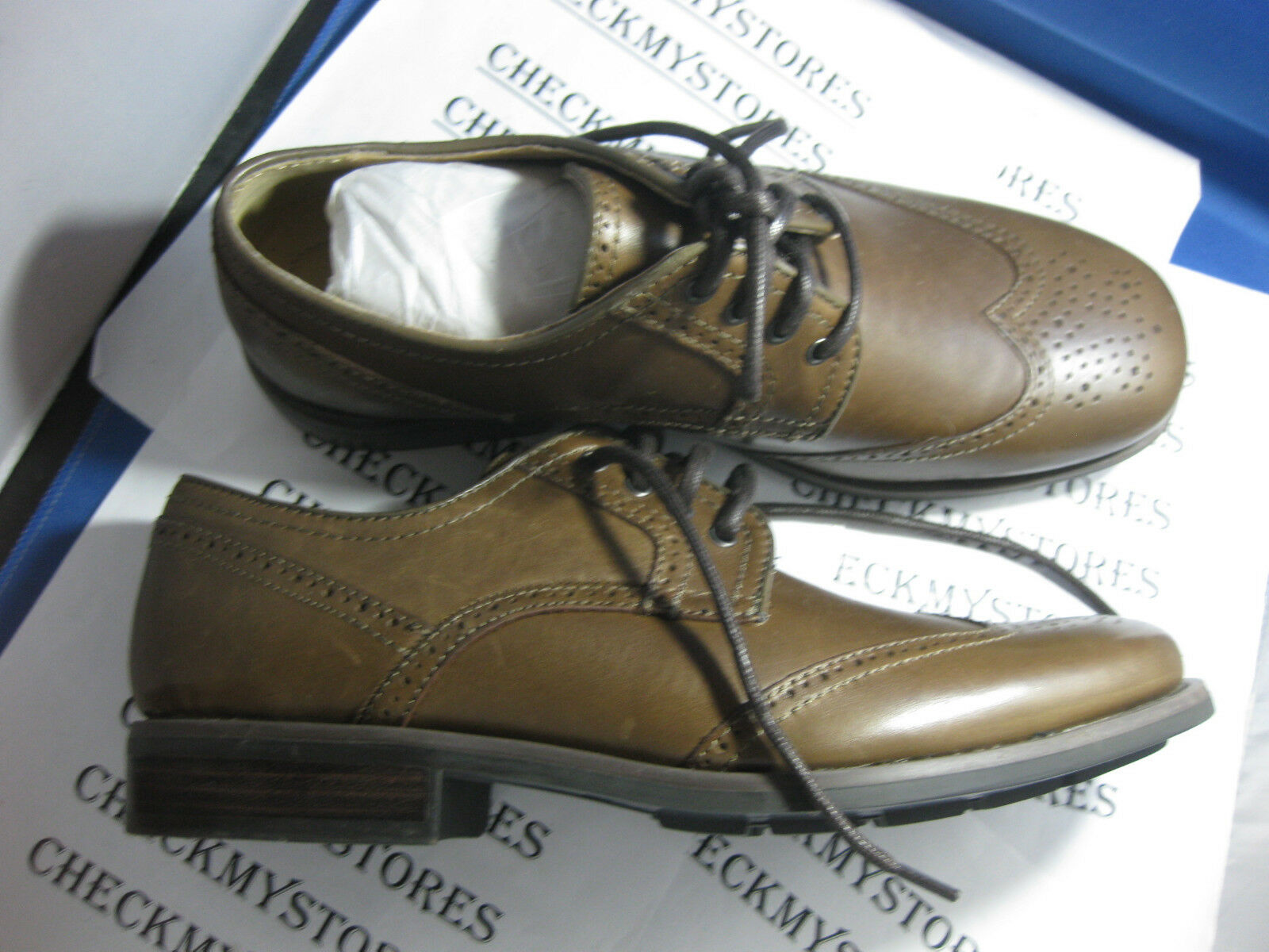 Nib 139 Premium Calvin Klein Laurence Premium 139 Cuero Oxford Zapatos Med Marrón 77d112