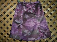 East 5th Stylish Purple & Brown Floral Designed Stretch Skirt Size 4
