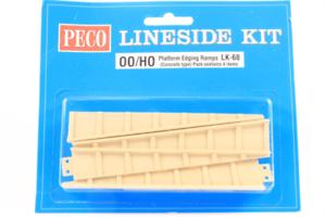 Peco-LK-68-Platform-Edging-Ramps-Concrete-Type-OO-HO-Gauge