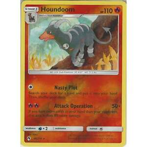Pokemon Tcg: Houndoom - 46/214 - Rare Reverse Holo Card -sun & Moon Lost Thunder Udatk485-08005318-567028036