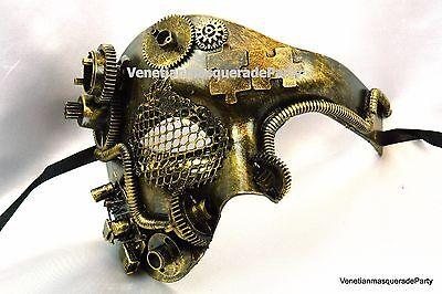 Carnival Costume Prom Party Man Steampunk Phantom Venetian Masquerade ball Mask