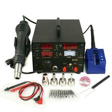 853d 3in1 Dc Power Supply Smd Rework Station Soldering Hot Air Gun Welder 110v