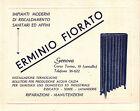 """CARTOLINA PUBBLICITARIA """" ERIMINIO FIORATO """" SANITARI ED AFFINI GENOVA C5-395"""