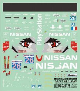 DECALS 1//24 NISSAN ORECA 03 COLORADO 24135 #26 WINNER LMP2 LE MANS 2011