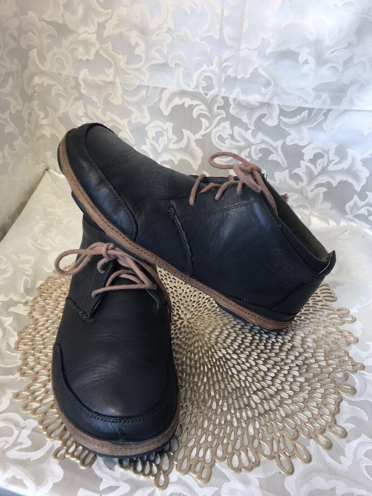 Olukai Kamuela Ankle Boot Men Sz 12M Black Leather NICE