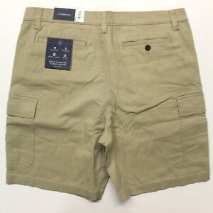 Men-039-s-Croft-amp-Barrow-Ultimate-Comfort-Cargo-Shorts-MC71X310RS-260-Khaki