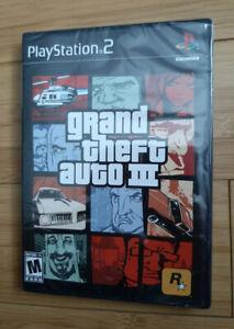 Playstation 2 PS2 Grand Theft Auto III GTA 3 NEW & SEALED * WATA OR VGA READY $