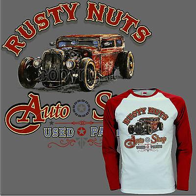 * Hot Rod Oldtimer Kustom Lucky V8 Auto Rockabilly Baseball T-shirt * 1177 Ls-mostra Il Titolo Originale Per Soddisfare La Convenienza Delle Persone