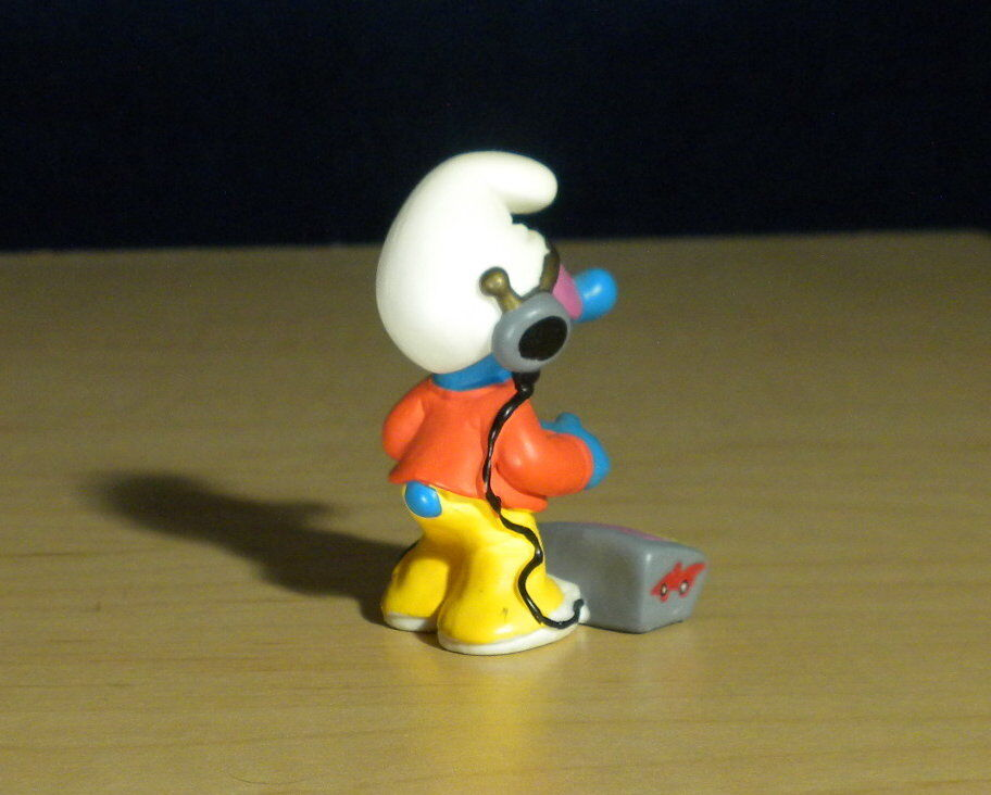 Smurfs 20521 20521 20521 Cyber Smurf Virtual Reality Video Game Vintage Figure Toy Figurine ffd264