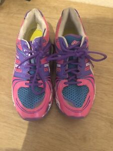 Blue Pink Zapatillas Uk Asics 5 Tamaño Gel deporte Purple 7 de OqdtBEw