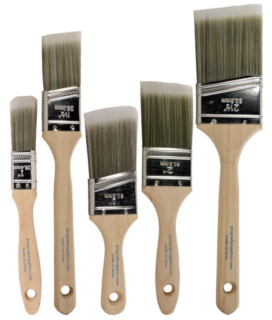 """TRIM Paint Brush Set Home extérieur ou intérieur Brosses 3/"""" Angle Maison Mur"""
