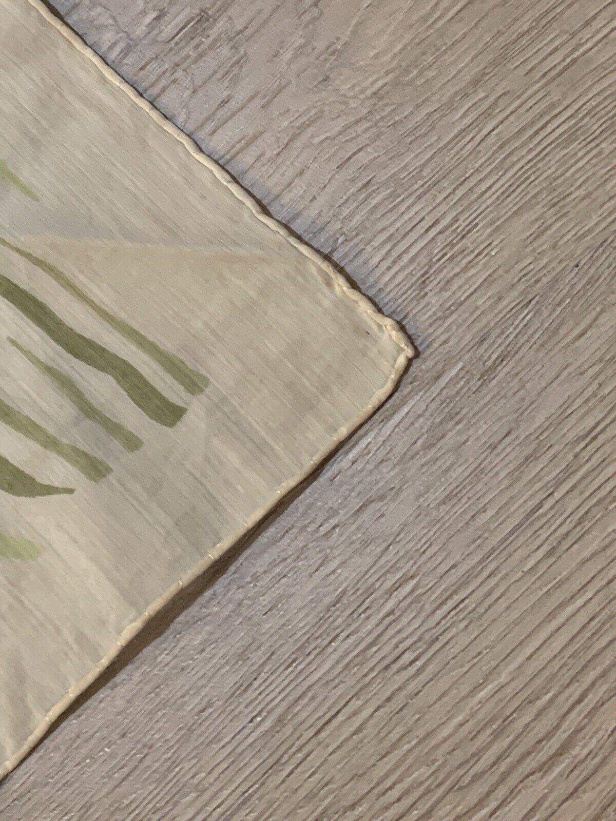 1940's Silk Scarf Greens Wood Grain Print VINTAGE - image 3