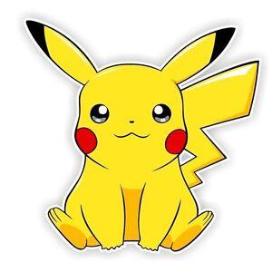 Pikachu Sitting Pokemon Decal Sticker Die Cut Ebay