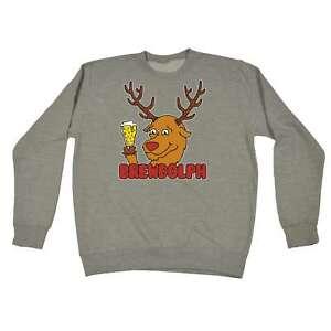 Christmas-Sweatshirt-Brewdolph-Beer-Wine-Pub-Bar-X-mas-Funny-SWEATSHIRTS-Jumper