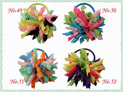 50 BLESSING Good Girl Boutique Unicorn Stylish Corker Ponytail Elastic Hairbow