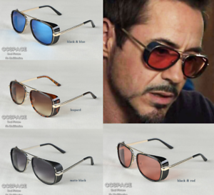Details zu Iron Man Men's Retro Sunglasses Tony Stark Vintage Eye Glasses Fashion Eyewear