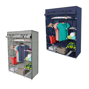 5-Layer-Portable-Closet-Storage-Organizer-Wardrobe-Clothes-Rack-Fabric-US