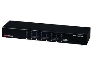 8x1 Enhanced HDMI Switch Input Selector Switcher Box w// Remote