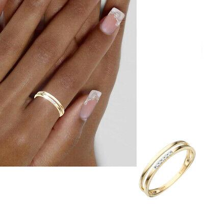 NEU BICOLOR Diamantring 585er echt Gold 14Kt Damen zweifarbig Gr 50-62