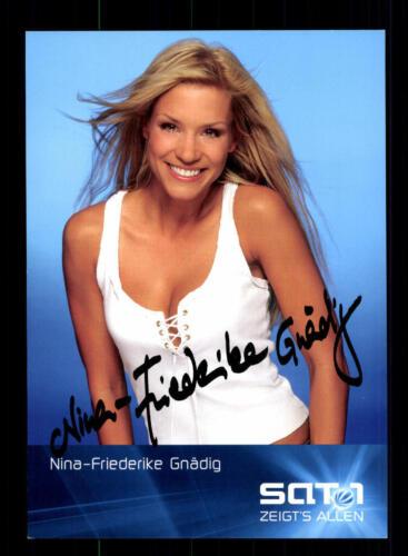 Nina Friederike Gnädig Verliebt in Berlin Autogrammkarte TOP ## BC 111602