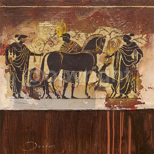Joadoor   Etruscan Century Tableau Prêt 70x70 Tableau Wandmalerei Romain