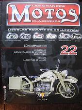 FASCICULE 22 MOTOS CLASSIQUES ZUNDAPP KS600 1937  MOTORCYCLE MOTORRAD