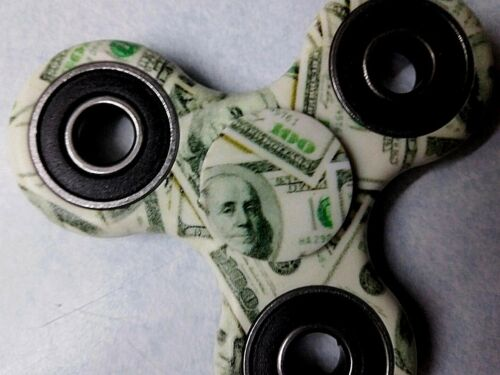 Fidget Spinner $100 bill Benjamin 2 Sided 3D Pro Wrapping Free Shipping USA