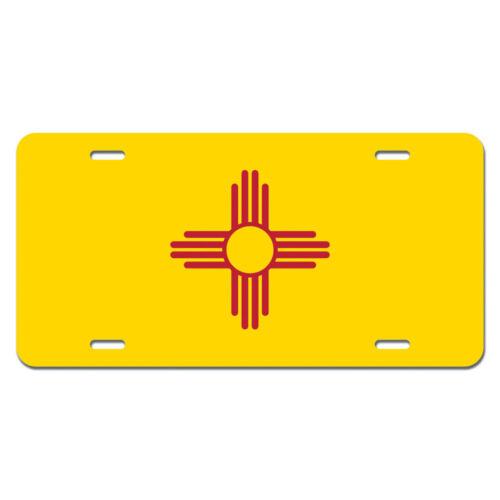 New Mexico State Flag Novelty Metal Vanity License Tag Plate
