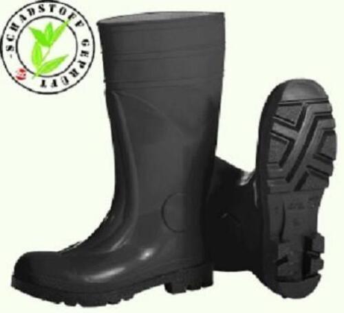 talla 39-47 S5 PVC botas de seguridad botas de goma botas de trabajo negro