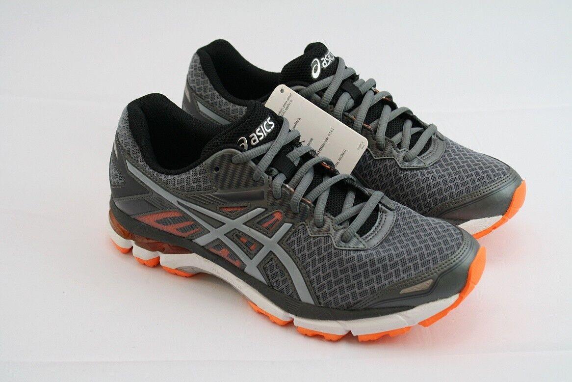 Mens Asics Gel Lithium 2 Silber grau Hot Orange Größe 8 NEW Runners Trainers