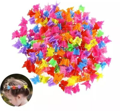 20 x Mini Hair Claw Butterfly Clips Plastic Mixed Color Girls Style Accessories