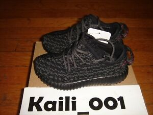 0694931c8ff Image is loading Adidas-Yeezy-Boost-350-Infant-Pirate-Black-BB5355-
