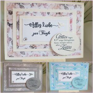Details Zu Glückwunschkarte Zur Taufe Taufkarte Mit Spruch Inkl Umschlag Grußkarte Handmade