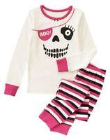 Gymboree Halloween Shop Girl Sz: 5 Boo Gymmies 2-piece Pajamas Pink/black