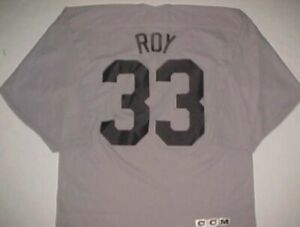 new arrival d2694 bdd35 Details about Colorado Avalanche Patrick Roy #33 NHL Center Ice Customized  Gray Black Jersey L