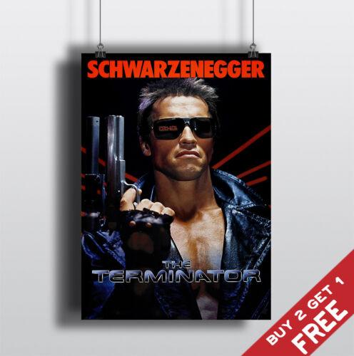 THE TERMINATOR 1984 MOVIE POSTER Schwarzenegger Film A3 A4 Art Print Wall Decor