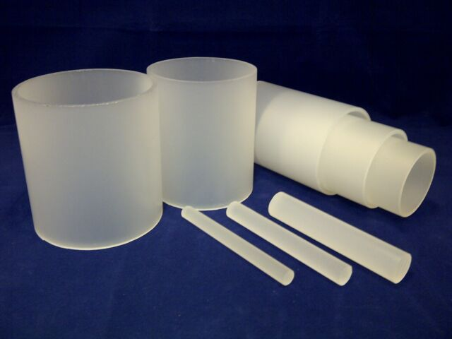 FROSTED ACRYLIC ROD AND TUBE EXTRUDED SATIN PERSPEX ROUND BAR & HOLLOW DIFFUSER