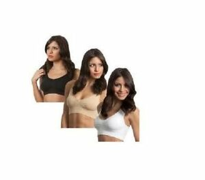 3 NEW W/OUT TAGS AUTHENTIC GENIE BRAS SIZE LARGE BEIGE