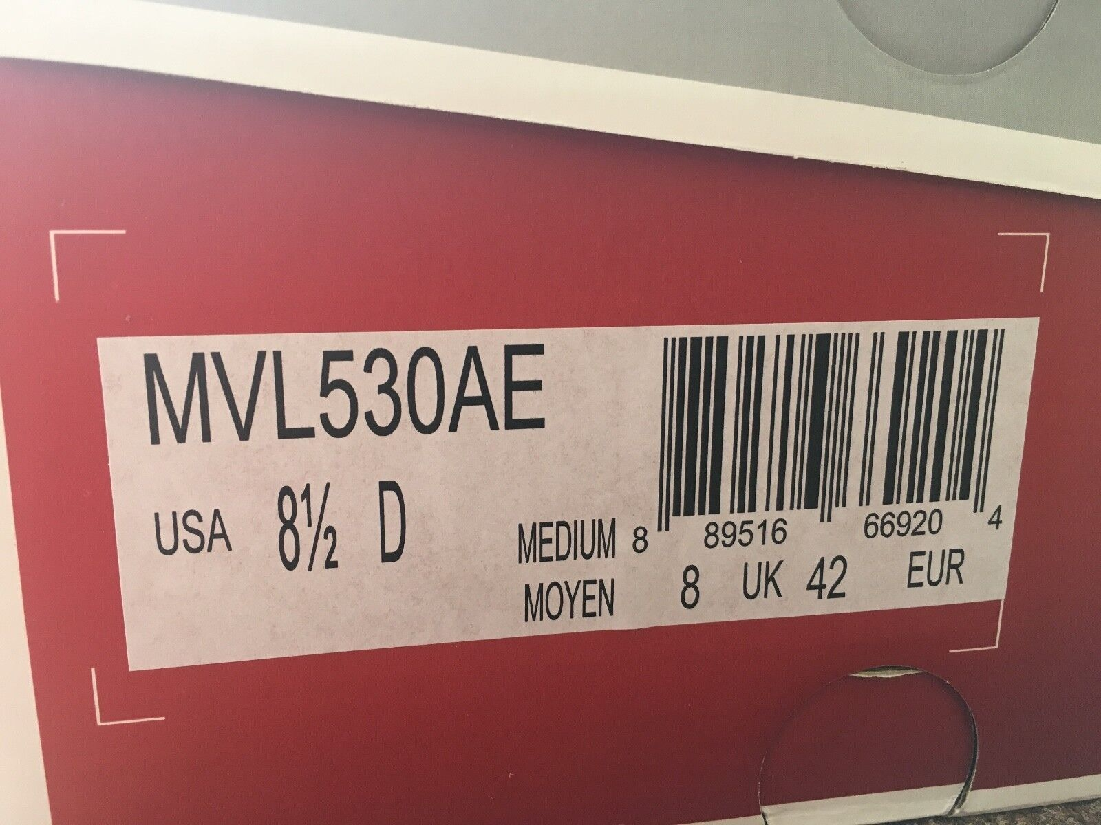 NEW Balance 530AE vazee misura