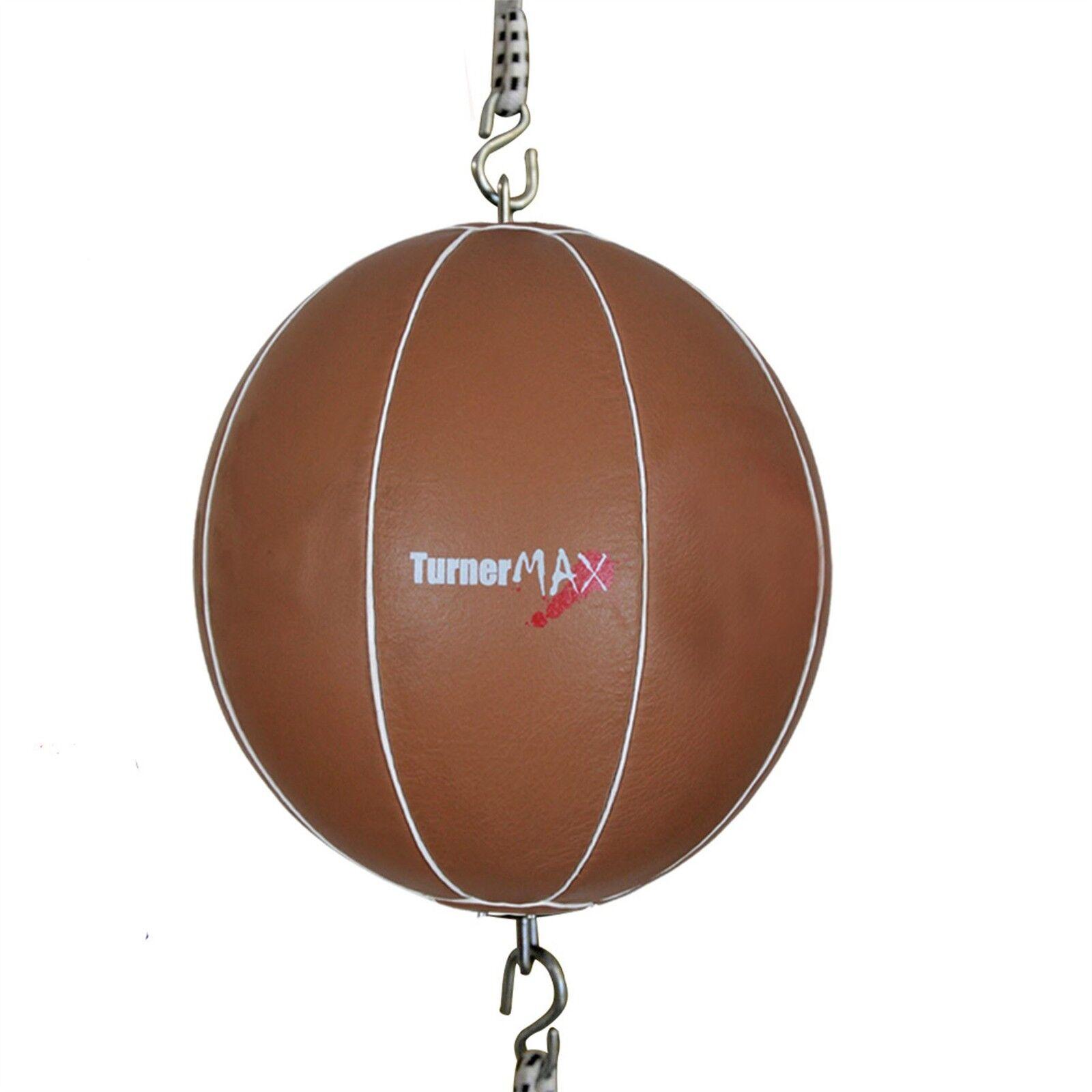 TurnerMAX Leder Trainings Dball Speed Ball Ball Ball Doppel End MMA Training Exercise  | Sehr gelobt und vom Publikum der Verbraucher geschätzt  48b565
