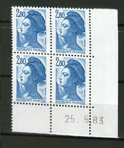 TIMBRE-N-2275-NEUF-XX-LUXE-COIN-DATE-DU-25-5-83-LIBERTE-DE-GANDON-2