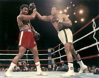 "MUHAMMAD ALI VS GEORGE FOREMAN  ""THE RUMBLE IN THE JUNGLE"" 10/30/74 8X10"