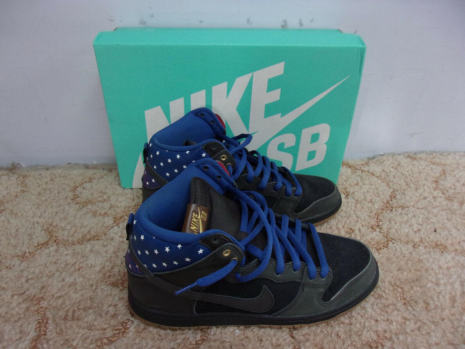 NIKE Dunk High Premium SB Black + White Stars Stars Stars on bluee shoes w Box Size 10.5 S11 ee3459